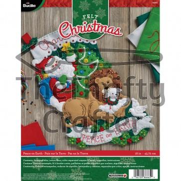 "BUCILLA 86665 Felt Applique Stocking Kit Peace on Earth, Size 18"""
