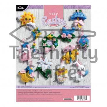 Bucilla Mini Easter Ornaments Felt Applique Kit