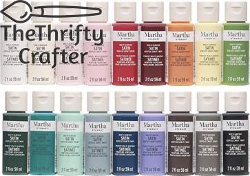 Martha Stewart Crafts MSORIGSTN18A Multi-Surface Satin Paint Set, 18 Piece