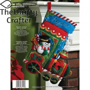 Bucilla 18-Inch Christmas Stocking Felt Applique Kit, 86147 Candy Express