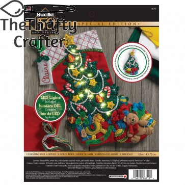 BUCILLA Christmas Tree Surprise Stocking Kit