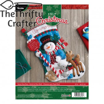 Bucilla Felt Applique Stocking Kit (18-Inch), 86707 Santa Stop Here