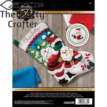 BUCILLA Santa's Snowman Stocking Kit