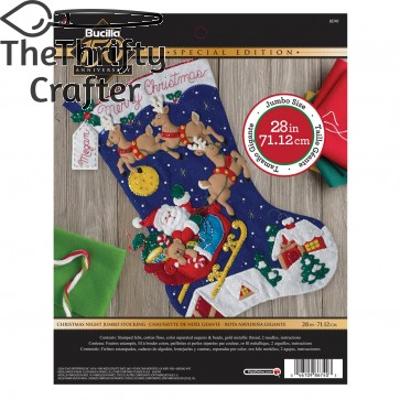 "BUCILLA 86740 Felt Applique Stocking Kit Christmas Night, Size 28"""