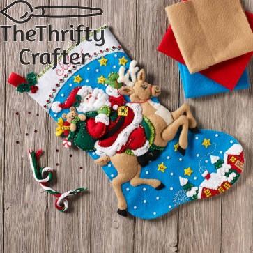 BUCILLA Reindeer Santa Stocking Kit