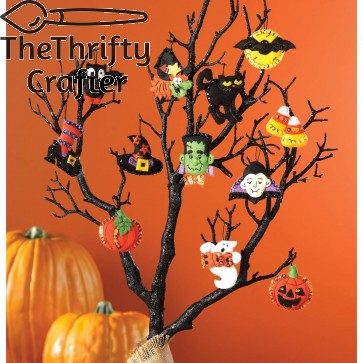 "Bucilla 86430 Halloween Felt Applique Ornaments Kit (Size 2"" by 2.5-Inch), Set of 12"