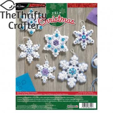 Bucilla Sparkle Snowflake Ornament Kit