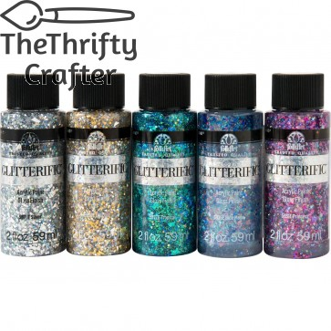 FolkArt Glitterific Glam Basics 5 Color Set - PROMOFAGL01