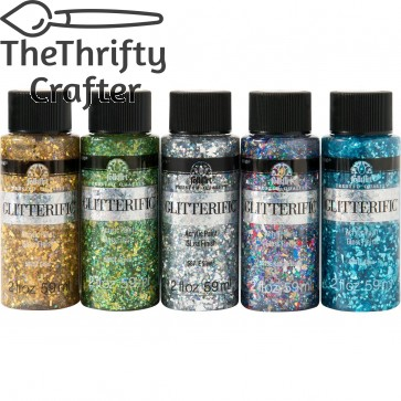 FolkArt Glitterific Enchanted Unicorn 5 Color Set - PROMOFAGL02