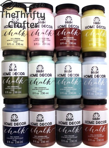 FolkArt Home Decor Chalk Finish Paint Set (8 Ounce), PROMO845B (12-Pack)