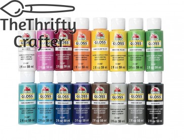 Apple Barrel Gloss Paint Set, 16 Piece (2-Ounce), PROMOABG Best Selling Colors