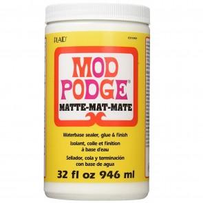 Mod Podge CS11303 Waterbase Sealer, Glue and Finish, Matte, 32 Ounce