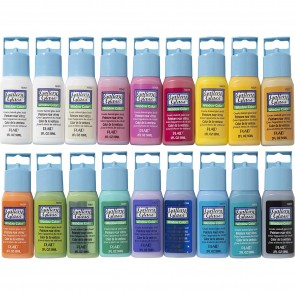 Gallery Glass Window Color Acrylic Paint Set (2-Ounce), PROMOGGII Best Selling Colors II