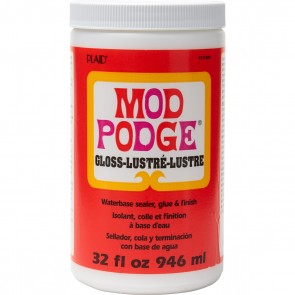 Mod Podge Waterbase Sealer, Glue and Finish (32-Ounce), CS11203 Gloss Finish