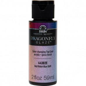 FolkArt Multi-Surface Paint Dragonfly Glaze (2 oz), 44382, Red-Violet-Blue