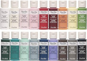 Martha Stewart Crafts MSORIGSTN18A Multi-Surface Satin Paint Set, 18 Piece