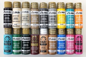 FolkArt Acrylic Paint in Assorted Colors (2-Ounce), PROMOFAII Best Selling Colors II (18-Pack)