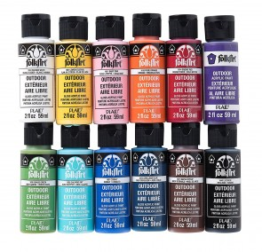 FolkArt PROMOFAOD Outdoor Acrylic Paint Set