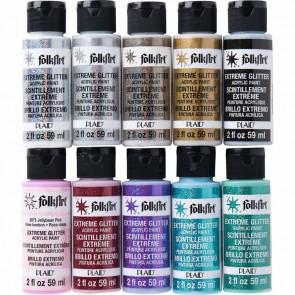 Folkart PROMOFAGLT Extreme Glitter 16 Pc. Paint Set