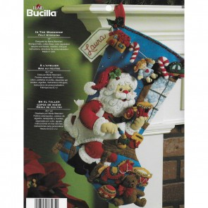 Bucilla 18-Inch Christmas Stocking Felt Applique Kit, 86165 The Workshop
