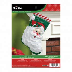 "Bucilla Jolly Saint Nick Stocking Felt Applique Kit, 18"" Long"