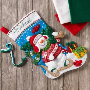 BUCILLA Nordic Snowman Stocking Kit