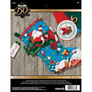 BUCILLA Airplane Santa Stocking Kit