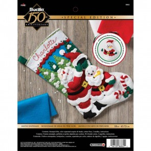 BUCILLA Santa's Snowman Stocking Kit