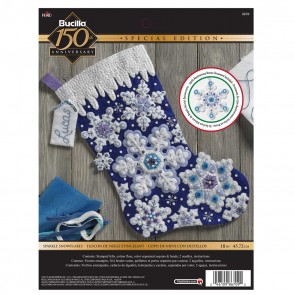 BUCILLA Sparkle Snowflake Stocking Kit