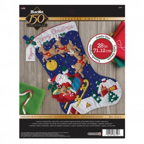 BUCILLA 86740 Felt Applique Stocking Kit Christmas Night, Size 28""