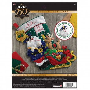 BUCILLA Officer Santa Stocking Kit