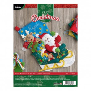 BUCILLA 86706 Felt Applique Stocking Kit Santa's Helper, Size 18""