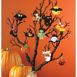 "Bucilla 86430 Halloween Felt Applique Ornaments Kit (Size 2"" by 2.5-Inch), Set of 12"