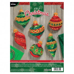 Bucilla Glitzy Ornament Kit