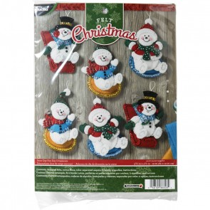 BUCILLA Snowday Funday Ornament Kit