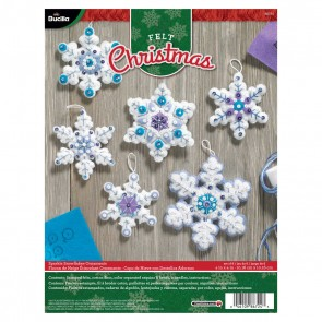 Bucilla Sparkle Snowflake Ornament Kit