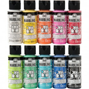 FolkArt Marbling Paint Set, 10 colors