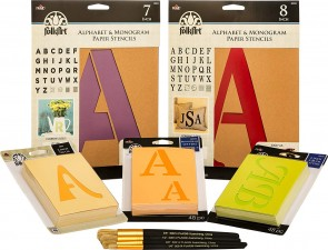 FolkArt PROMOFAPAB Ultimate Paper Alphabet Stencil & Brush Set