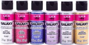 LaurDIY PROMOLDIY05 6 Color Galaxy Glitter Paint Set, Multi