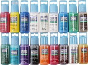 Gallery Glass Window Color Paint Set (2-Ounce), PROMOGGI (18-Colors)