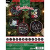 Bucilla Counted Cross Stitch Ornament Kit, 86673 Holly Jolly (Set of 12)