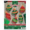Bucilla Glitzy Ornament Kit
